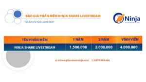 bảng giá phần mềm ninja share livestream