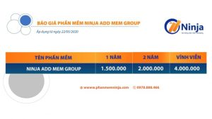 bảng giá ninja add mem group