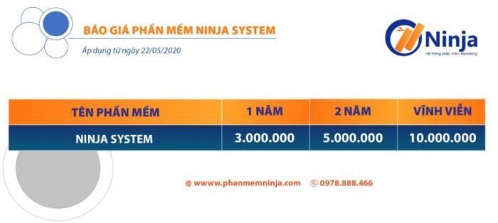 bảng giá ninja system
